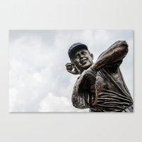 Ron Santo Statue - Wrigl… Canvas Print
