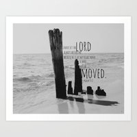 Psalm 16 I Shall Not Be … Art Print