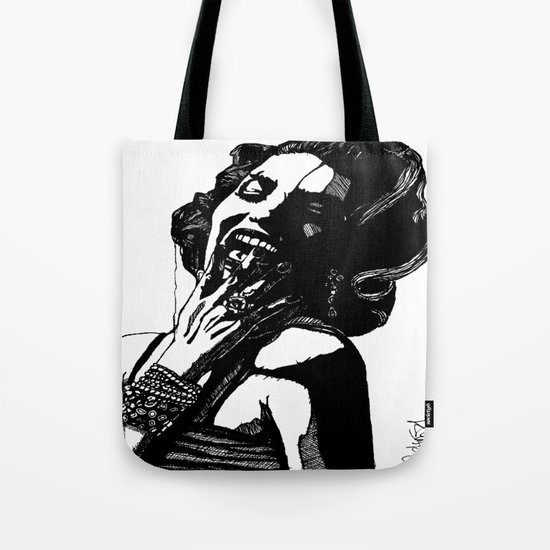 B&W Fashion Illustration - Part 2 Tote Bag