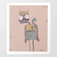 birdie & me. Art Print