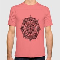 Mandala Mens Fitted Tee Pomegranate SMALL