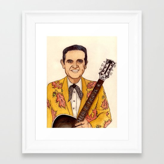 Merle Travis II Framed Art Print