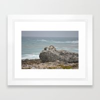 Rocks-Sea Framed Art Print