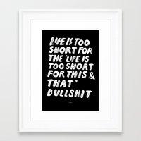 TOO SHORT FOR ANYTHING Framed Art Print