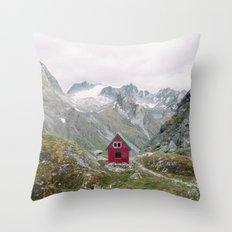 Mint Hut Throw Pillow