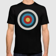 Vintage Target Mens Fitted Tee Black SMALL