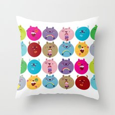 Cute bunnyballs Throw Pillow