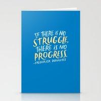 Frederick Douglass on Progress Stationery Cards