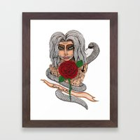 Zombie girl. Framed Art Print