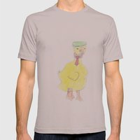 Childhood Drawings (Duck) Mens Fitted Tee Cinder SMALL