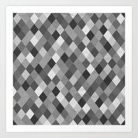 Black And White Harlequi… Art Print