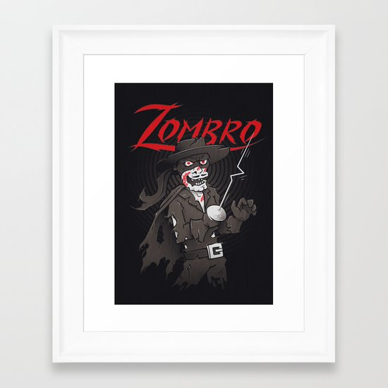 Zombro Framed Art Print