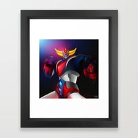 Pulp Goldorak Framed Art Print