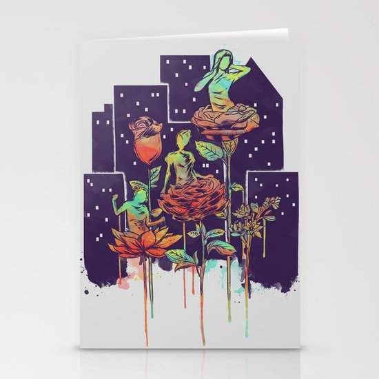 City of Flower Stationery Card