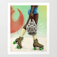 Skate Wars - Rebel Allia… Art Print