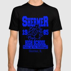 The Breakfast Club  |  Shermer High School Logo  |  John Hughes Universe Mens Fitted Tee SMALL Black