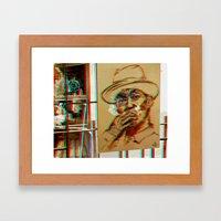 Bkk^Balkony°3dBluez Framed Art Print