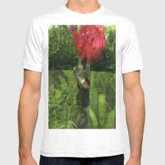 Flower Fairies SMALL White Mens Fitted Tee