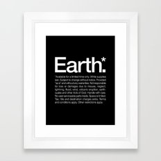 Earth.* Available for a limited time only. Framed Art Print