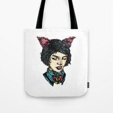 Cat Girl - I think I have Super Powers Tote Bag