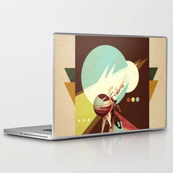 Vintage Space Poster Series I - Explore Space - It's Fun! Laptop & iPad Skin