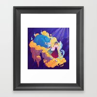 The Fox Family In The Sp… Framed Art Print