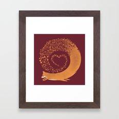 Fall Fox (Maroon) Framed Art Print