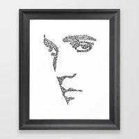 Elvis WordsPortrait  Framed Art Print