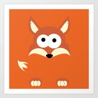 Minimal Fox Art Print