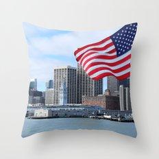 Port of San Francisco, California Throw Pillow