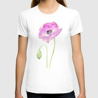 Flower Purple Poppy Flor… Womens Fitted Tee White SMALL