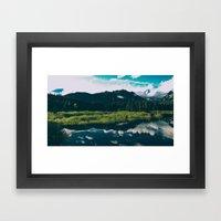 North Cascades Hidden La… Framed Art Print