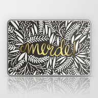 Laptop & iPad Skin featuring Pardon My French – Gol… by Cat Coquillette