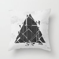 PLACE Triangle V2 Throw Pillow