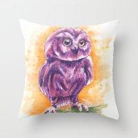 Cute Lil' Ol' Owl Throw Pillow