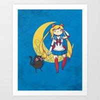 Adventure Moon Art Print