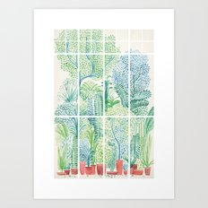 Winter in Glass Houses I Art Print