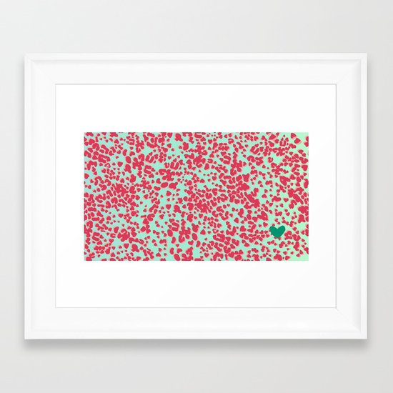 Animal Print Pink Framed Art Print