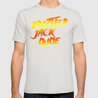Brother Jack Dude Mens Fitted Tee Silver SMALL