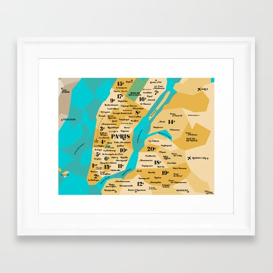 Paris sur New York Framed Art Print