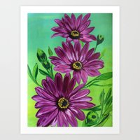 Purple magic  Art Print