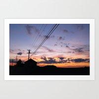 Hampton Beach Sunset Art Print