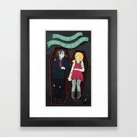 The Graveyard By The Hou… Framed Art Print