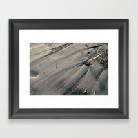 Feather In The Sand Framed Art Print