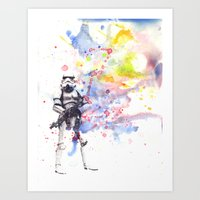 Storm Trooper From Star … Art Print