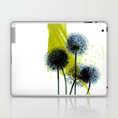 blue dandelion on abstract background Laptop & iPad Skin