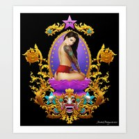 Atop Her Gilded Throne Art Print