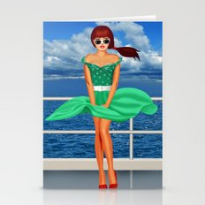 Pin-Up Girl At The Raili… Stationery Cards