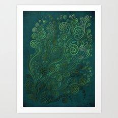 Green Ornaments Art Print