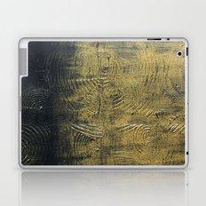 Gold Circles - Textured Abstract Laptop & iPad Skin